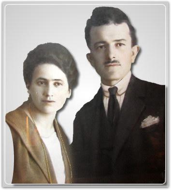 Guido e Letizia Raschi, genitori di Bruno